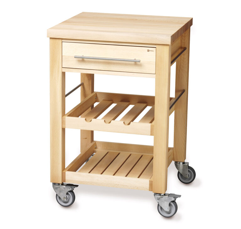 Small Wood Kitchen Trolley