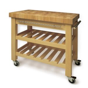 Wooden Kitchen & Serving Trolley