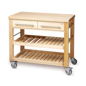 Big Wooden Kitchen Trolley