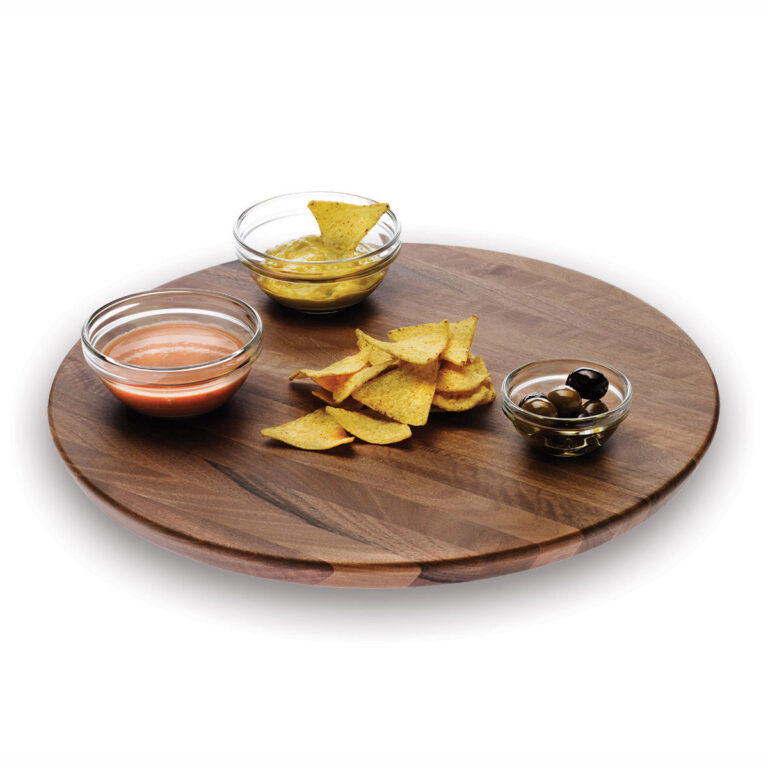 Wooden Round Movable Tray